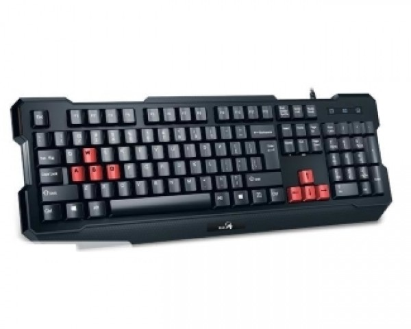 GENIUS K210 Scorpion Gaming USB US crna tastatura