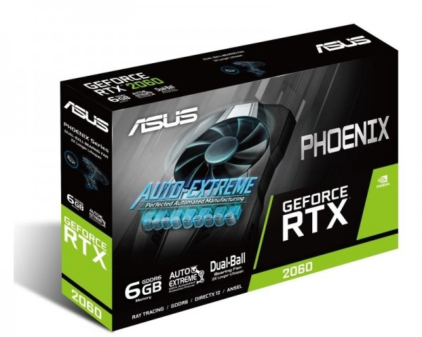 ASUS nVidia GeForce RTX 2060 6GB 192bit PH-RTX2060-6G