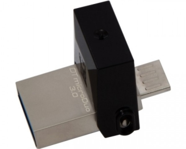KINGSTON 64GB DataTraveler MicroDuo USB 3.0USB OTG flash DTDUO364GB crni