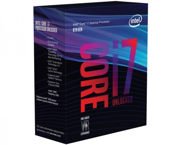 INTEL Core i7-8700K 6-Core 3.7GHz (4.7GHz) Box
