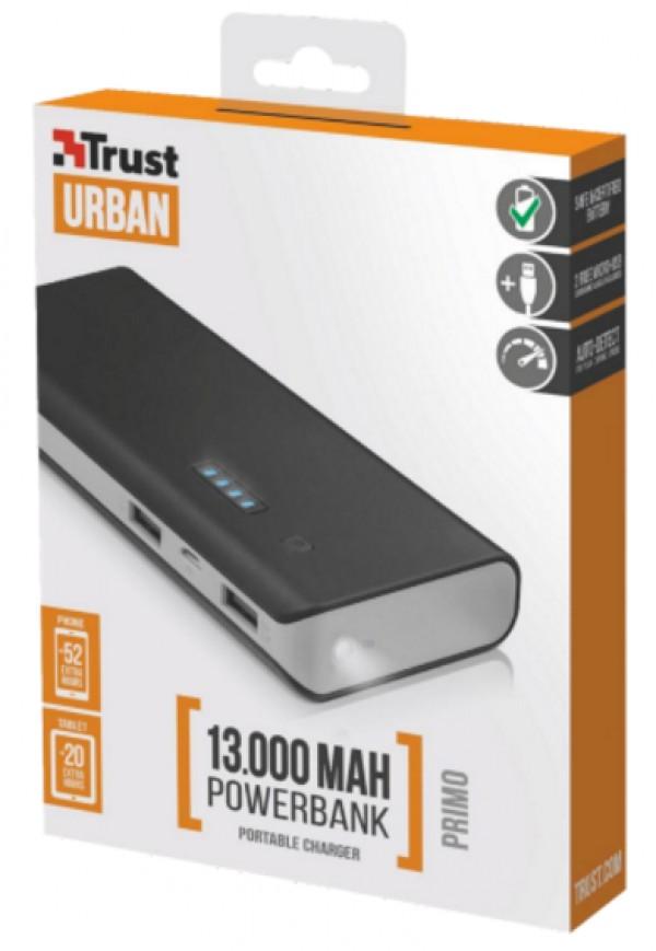 Trust Primo Powerbank 13000 prenosivi punjac crni' ( '21689' )