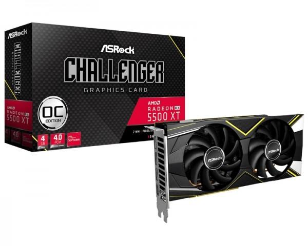 ASROCK AMD Radeon RX 5500 XT 4GB 128bit RX5500XT CLD 4GO