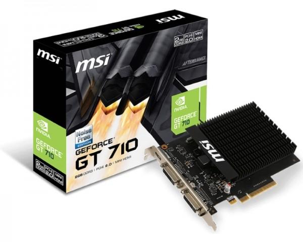 MSI nVidia GeForce GT 710 2GB 64bit GT 710 2GD3H H2D