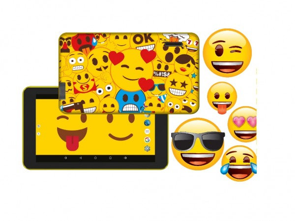 eSTAR Themed Tablet Emoji  ARM A7 QC 1.3GHz1GB8GB0.3MPWiFiAndroid 7.1Emoji Futrola' ( 'ES-TH2-EMOJI-7.1' )