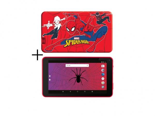 eSTAR Themed Tablet Spider Man 7'' ARM A7 QC 1.2GHz1GB8GB0.3MPWiFiAndroid 7.1SpiderMan Futrola' ( 'ES-TH2-SPIDERMAN-7.1' )