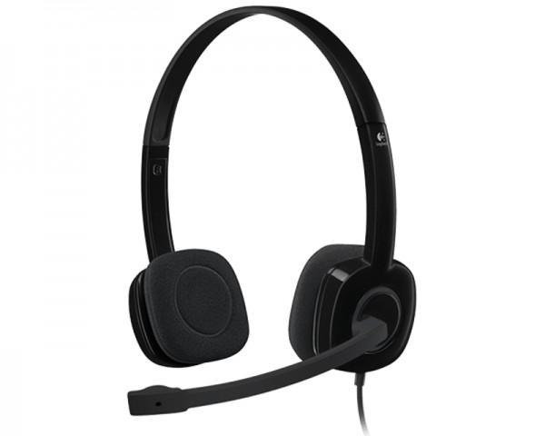 LOGITECH H151 Stereo Headset single jack slušalice sa mikrofonom crne