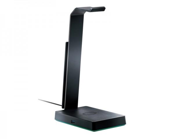COOLER MASTER Držač za slušalice i punjač za telefon USB 3.0 Qi MPA-GS750-00-C1