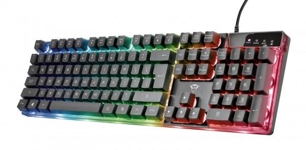Trust tastatura GXT 835 AZOR gaming US, crna' ( '23651' )