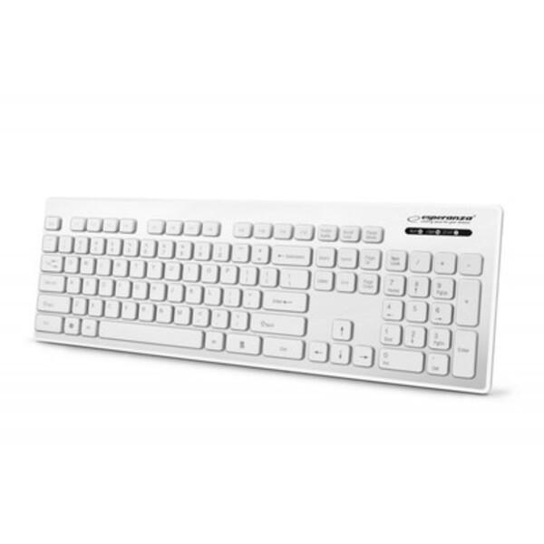 Tastatura Esperanza ek130w tastatura bela usb vodootporna