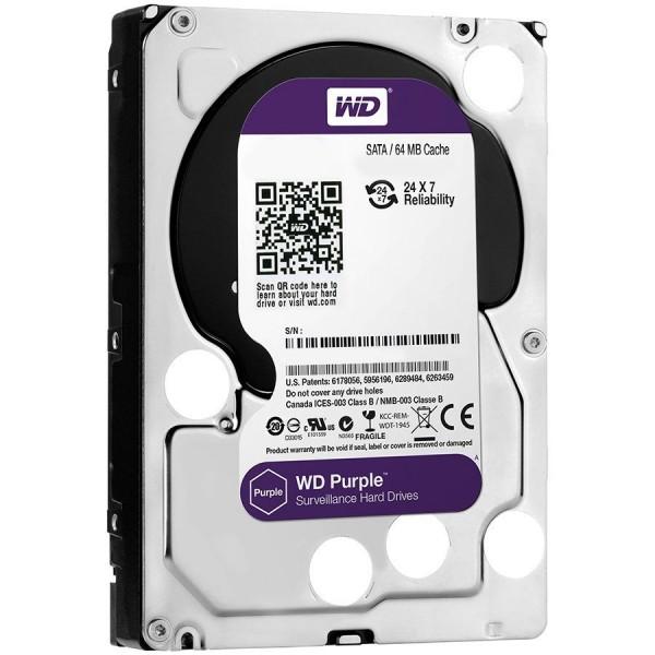 HDD AV WD Purple (3.5, 2TB, 64MB, 5400 RPM, SATA 6 Gbs) ( WD20PURZ )