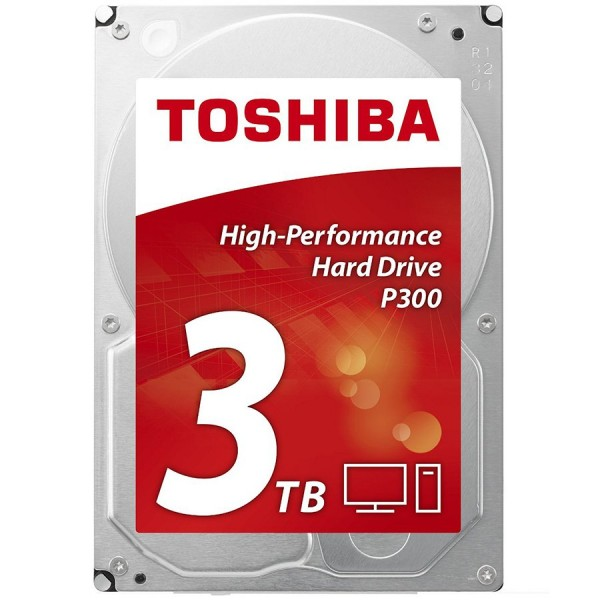 HDD desktop Toshiba P300 (3.5'' 3TB, 7200RPM, 64MB, NCQ, AF, SATAIII), bulk ( HDWD130UZSVA )
