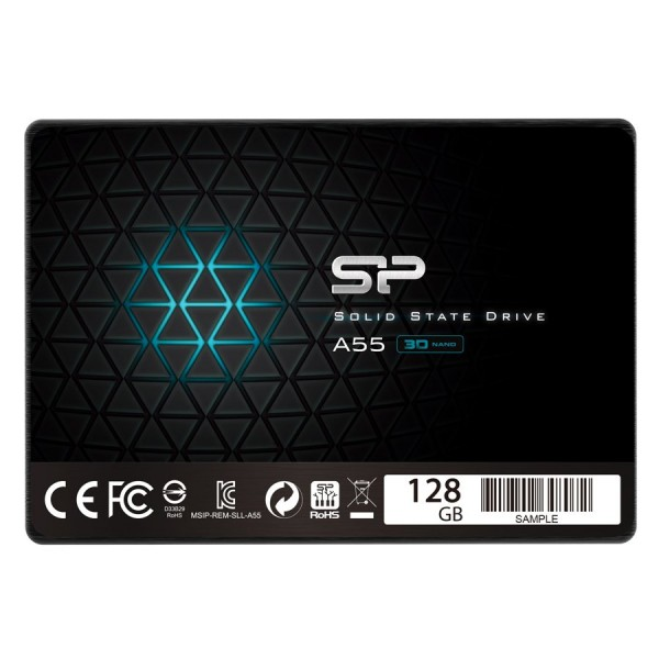 SILICON POWER Ace A55 128GB SSD, 2.5 7mm, SATA 6Gbs, ReadWrite: 560  530 MBs ( SP128GBSS3A55S25 )