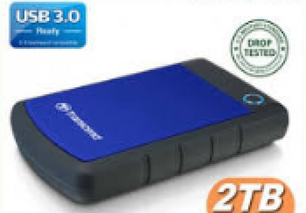 External HDD 2 TB, H3B, USB3.0, 2.5'', Anti-shock system, Backup software, 284 gr, Black/Blue ( TS2TSJ25H3B )