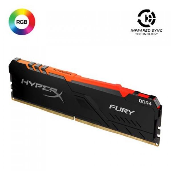 Memorija Kingston DDR4 8GB 2666MHz HyperX Fury Black RGB