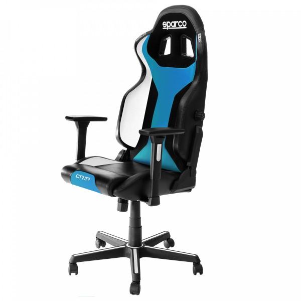GRIP Gaming/office chair Black/Light Blue Sky ( 00989NRCESKY )