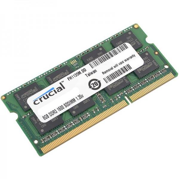 Crucial DRAM 8GB DDR3L 1.5V1.35V dual voltage 1600 MHz SODIMM CL11 (4Gbit), EAN: 649528754592 ( CT102464BF160B )