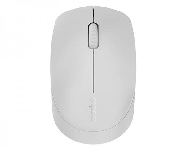 RAPOO M100 Silent Wireless Multi-mode miš svetlo sivi