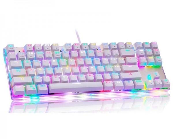 MOTOSPEED K87S bela mehanička tastatura plavi prekidač