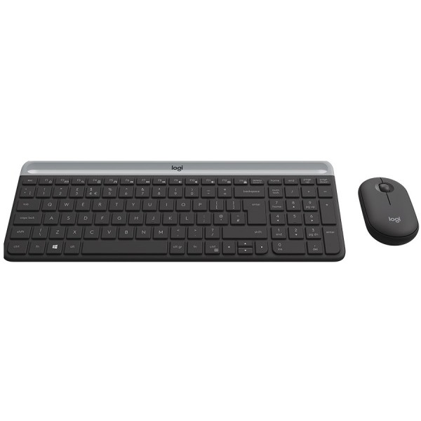 LOGITECH Slim Wireless Keyboard and Mouse Combo MK470 - GRAPHITE - HRV-SLV - INTNL ( 920-009264 )