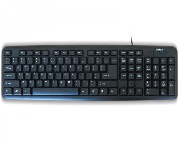 ETECH E-5050 PS2 YU crna tastatura (CYR)