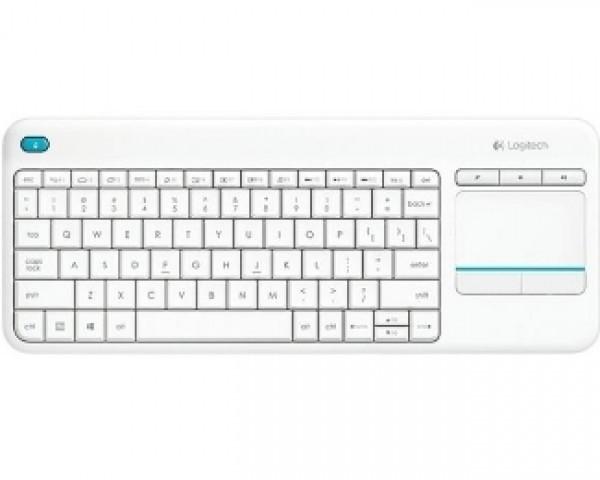 LOGITECH K400 Plus Wireless Touch US bela tastatura