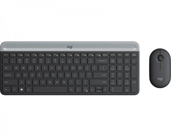 LOGITECH MK470 Wireless Desktop YU Graphite tastatura + miš