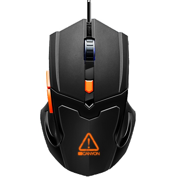 Optical Gaming Mouse with 6 programmable buttons, Pixart optical sensor, 4 levels of DPI and up to 3200, 3 million times key life, 1.65m PV