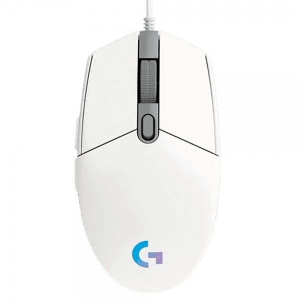 LOGITECH G203 LIGHTSYNC Gaming Mouse - WHITE - EMEA ( 910-005797 )