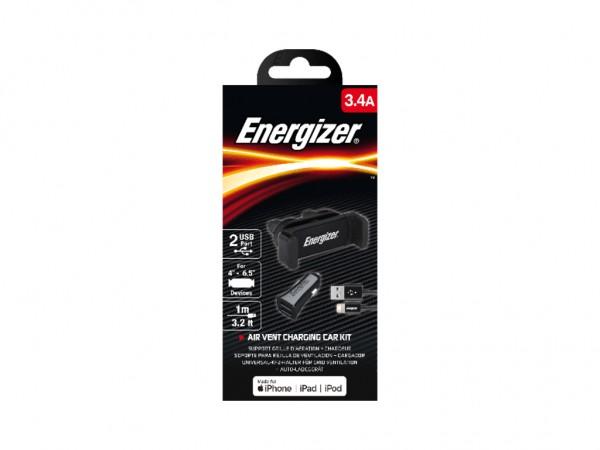 Energizer Max Universal CarKit 2USB+Lightning Cable Black 3,4A' ( 'CKITB2CLI3' )