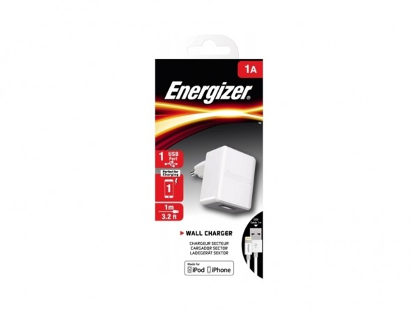 Energizer Max Wall Charger 1USB+MicroUSB Cable White 1A' ( 'ACA1AEUCLI3' )