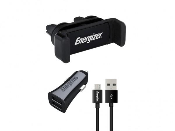 Energizer Max Universal CarKit 2USB+MicroUSB Cable Black 3,4A' ( 'CKITB2CMC3' )
