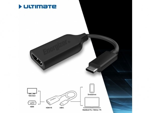 Energizer Ultimate Adapter USB-C to HDMI 4K Black' ( 'HC3HDMI' )