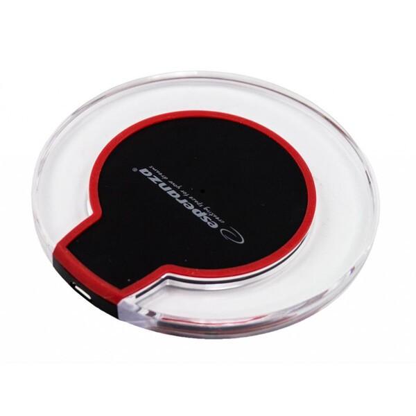 Punjač Esperanza ez127kr bežični punjač za mobilni telefon crno crveni
