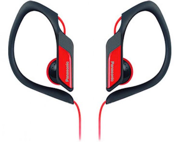 PANASONIC slušalice RP-HS34E-R, crvene, sportske, vodootporne