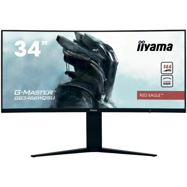 IIYAMA Monitor 34'' UW Pro-Gaming, G-Master Red Eagle, 1500R Curved, 144Hz, VA panel, 3440x1440 (21:9), Height Adjust. (11cm), 1ms (MPRT), 4
