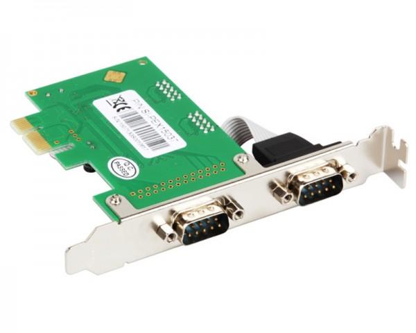 Kontroler E-Green PCIe 2xRS232