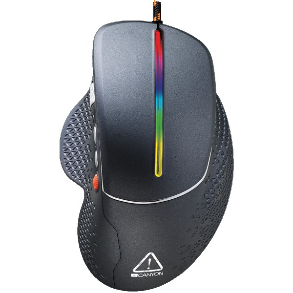 Wired High-end Gaming Mouse with 6 programmable buttons, sunplus optical sensor, 6 levels of DPI and up to 6400, 2 million times key life,