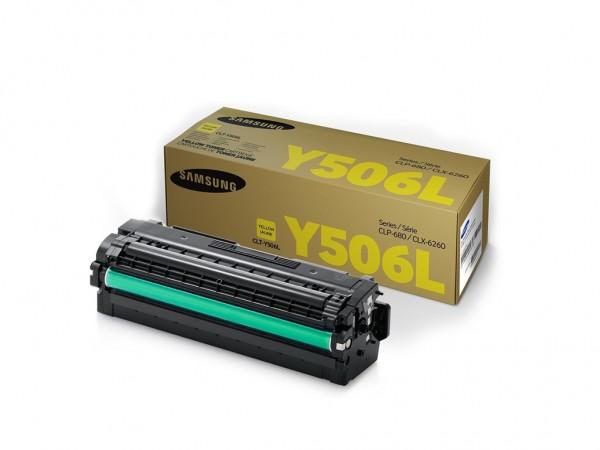 Samsung CLT-Y506L High Yield Yellow Toner Cartridge' ( 'SU515A' )