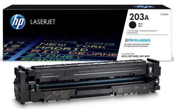 HP 203A Black Original LaserJet Toner Cartridge' ( 'CF540A' )