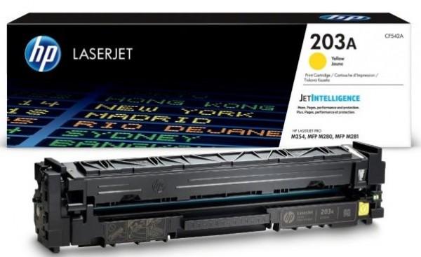 HP 203A Yellow Original LaserJet Toner Cartridge' ( 'CF542A' )