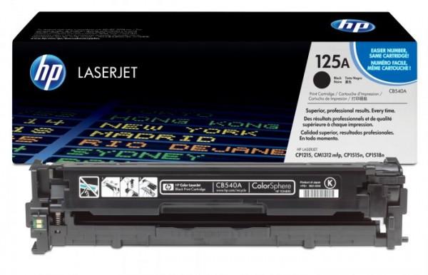 HP Toner Black CLJ CP1515nCP1518niCP1215CM1312 MFP, [CB540A]' ( 'CB540A' )