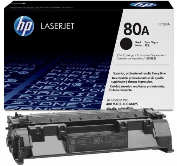 HP 80A Black Original LaserJet Toner Cartridge' ( 'CF280A' )