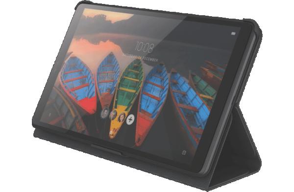 Lenovo TB-8505, Lenovo TAB M8 Folio Case (2 stand postitions) + Anti-Scratch Protective Film BLACK ( ZG38C02863 )
