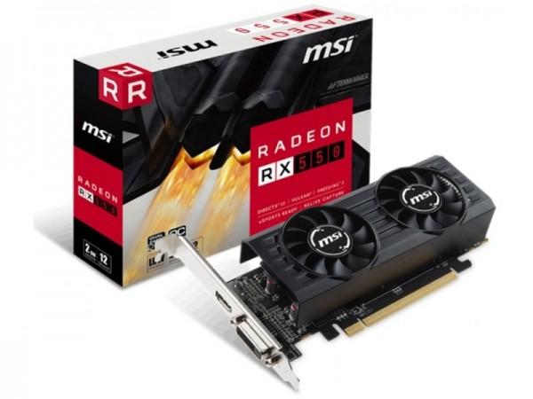 SVGA PCIE MSI RX550 2GB 128bit RX 550 2GT LP OC