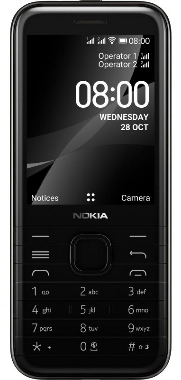 Nokia 8000 4G WiFi DS Black Dual Sim' ( '16LIOB01A20' )