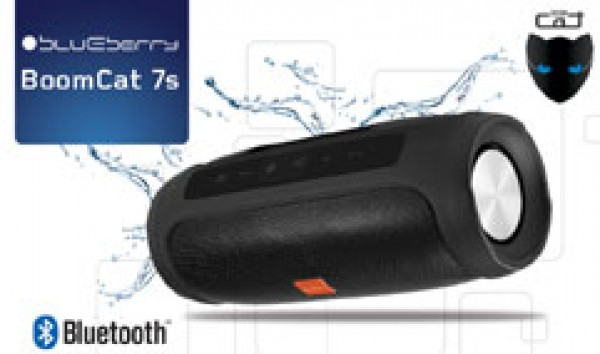 Portable Bluetooth Speaker BoomCat 7s, 10W, MP3, BlueLink+, FM radio, MicroSD, Splashproof, USB, Li-ion battery, power bank ( BOOMCAT7S )
