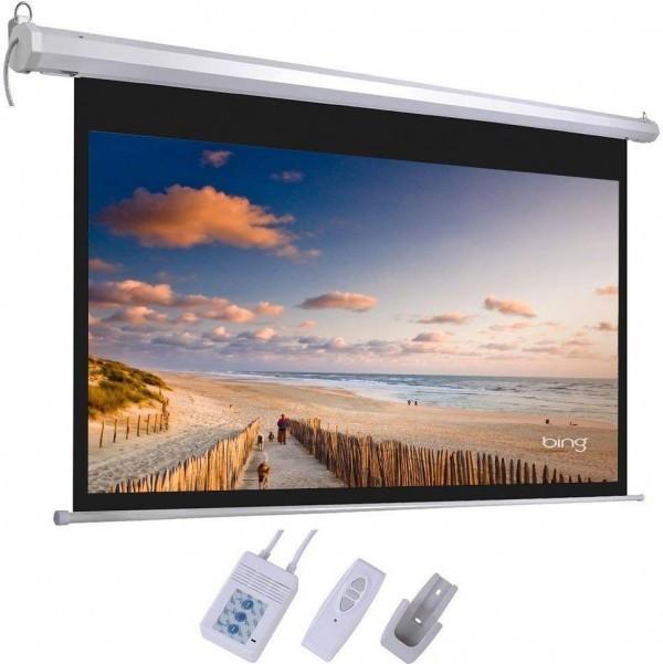 Platno za projektor LEXIN EH9696M zidno električno 244x244 1:1
