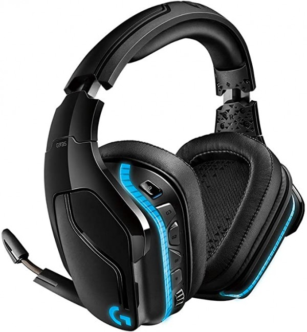 LOGITECH G935 Wireless 7.1 Surround Sound LIGHTSYNC Gaming Headset - 2.4GHZ - EMEA ( 981-000744 )