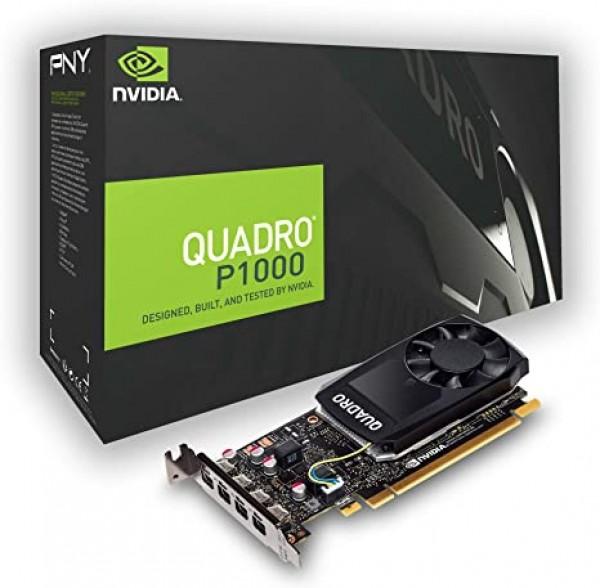 HP ACC VGA NVIDIA Quadro P1000 4GB Kit w2 Adapters, 1ME01AA