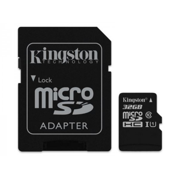 MICRO SD 32GB KINGSTON + SD adapter SDCS232GB